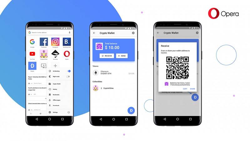 Opera giới thiệu trình duyệt Android mới có tích hợp sẵn ví tiền điện tử