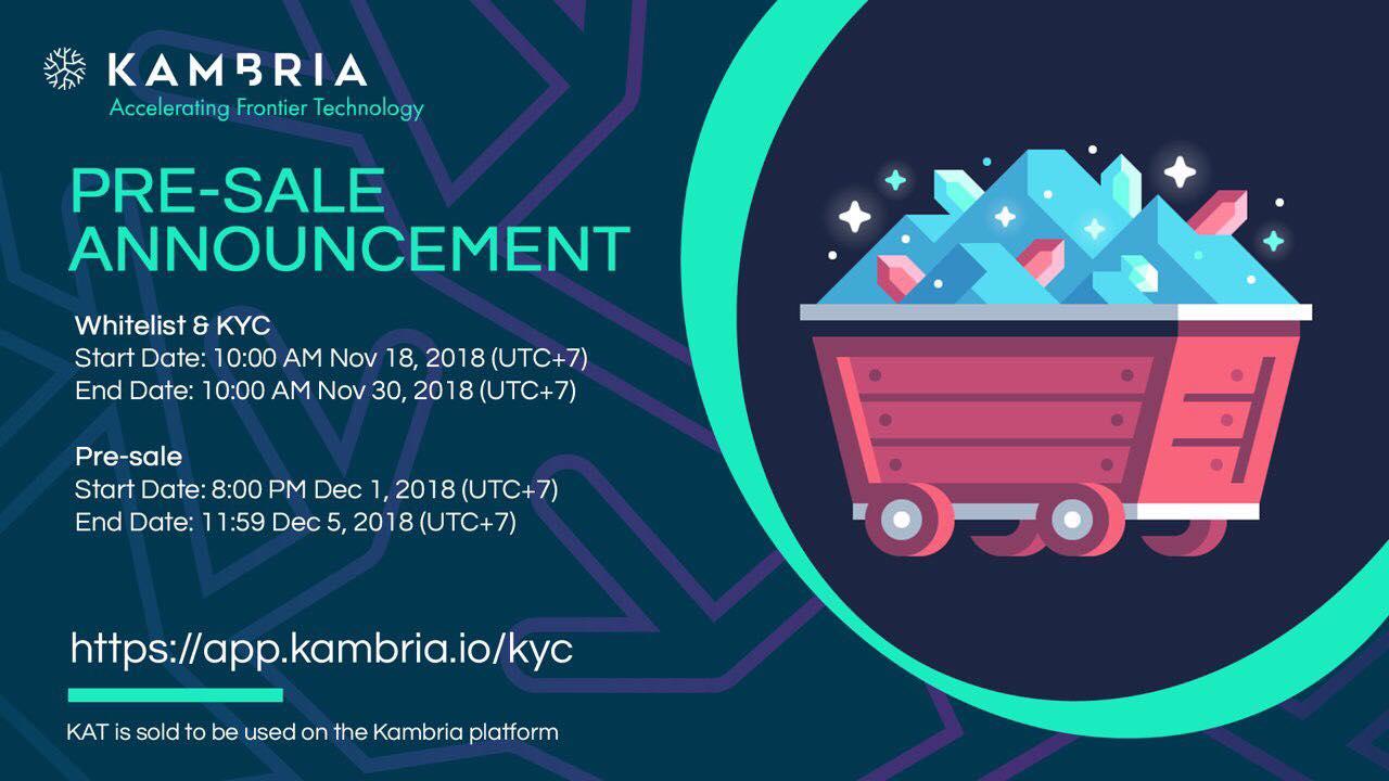 Kambria chính thức thông báo mở bán pre-sale Kambria Token (KAT)
