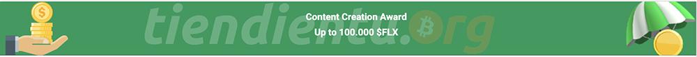 Nhận thưởng FLX từ việc sáng tạo nội dung